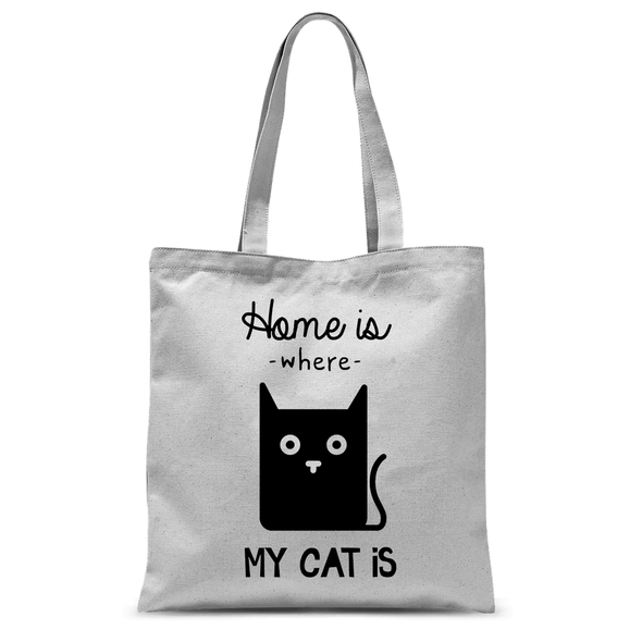 Home Is Where My Cat Is - Tote Bag Home Is Where My Cat Is - Tote Bag Tote Bags Default Title