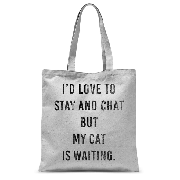 My Cat Is Waiting - Tote Bag