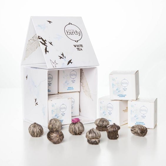 flowering white tea gift box