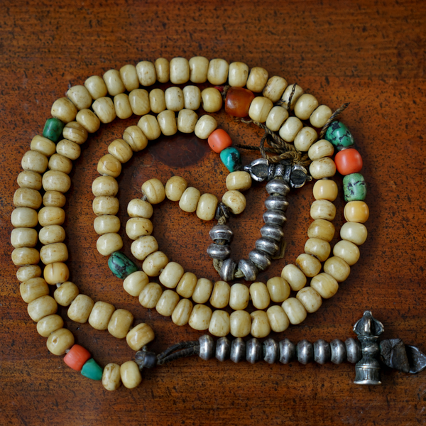 Old Prayer Mala Beads