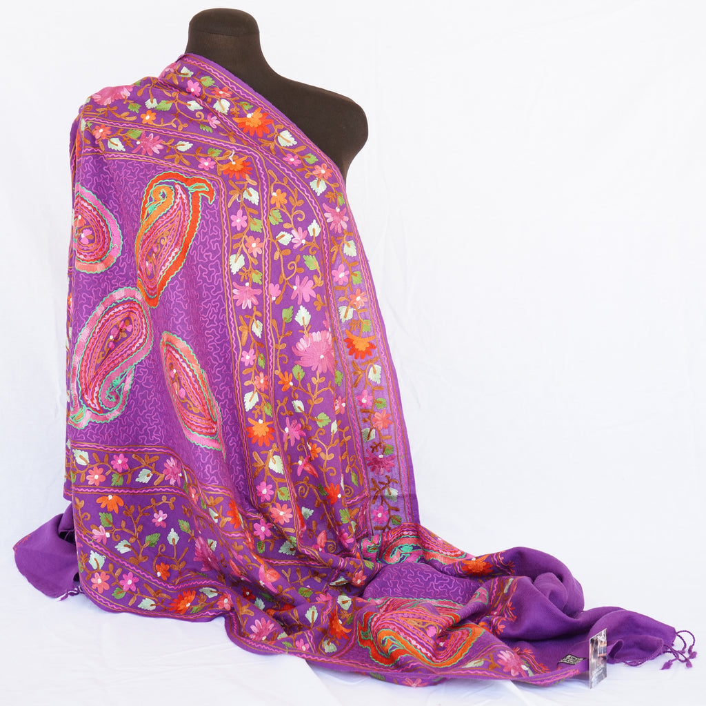 Hand embroidery Pashmina shawls