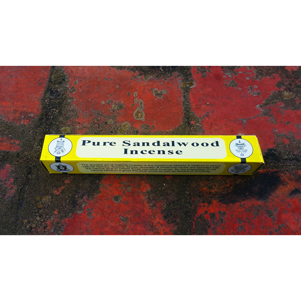 PURE  SANDLEWOOD   INCENSE ( With incense  holder )