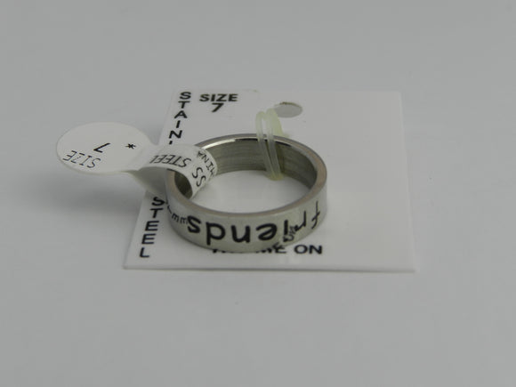 Stainless Steel Friends Ring - Unisex Various Size