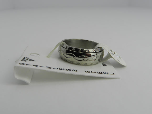Stainless Steel ADHD/Anxiety Fidget Spinner Ring