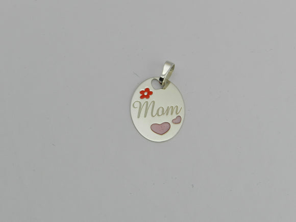 Rousseau .925 Solid Sterling Silver Mom Pendant
