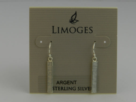 Limoges 925 Sterling Silver Open Leaf Drop Earrings