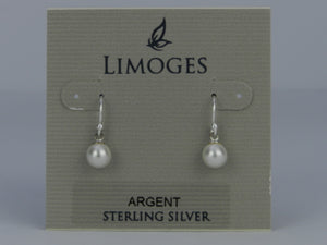 Limoges 925 Sterling Silver Fresh Water Pearl Earrings