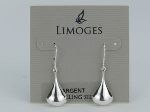 Limoges 925 Sterling Silver Teardrop Earrings