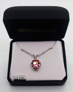 "Swarovski Crystal Heart Pendant with 18"" Chain"