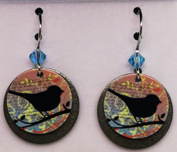 Emma & Ivy Dangle Round Bird Earrings