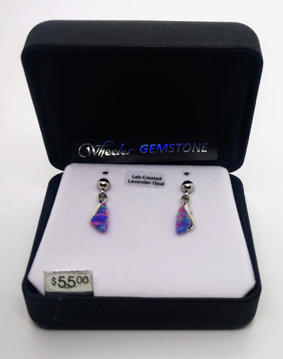 Wheeler Gemstone Lavender Opal Earrings