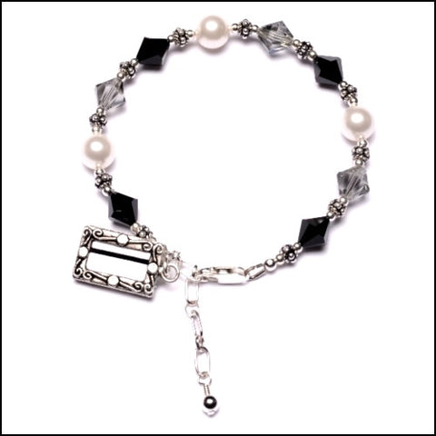 """Black Band"" Registered Nurse Bracelet"