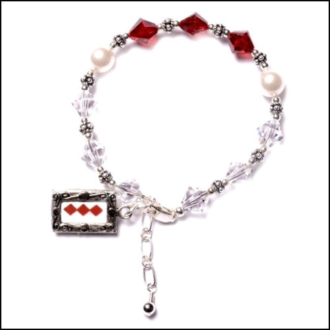 """Red Diamonds"" Care Assistant Bracelet"