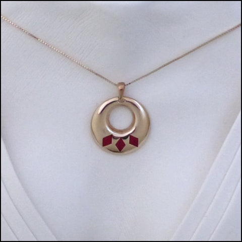 """Red Diamonds"" Care Assistant Pendant/Pin"