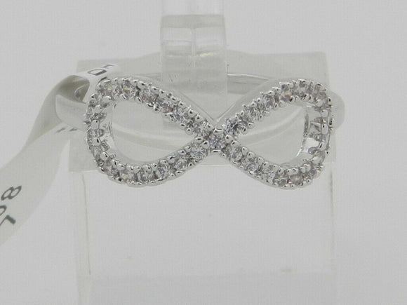 Bria Kate Stainless Steel Infinity Cubic Zirconia Ring