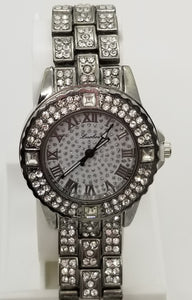 Luobos fashion watch base metal with rhinestones clasp bracelet