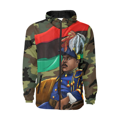 Marcus Garvey Green Camy Windbreaker for Men - UrbanToons Inc.