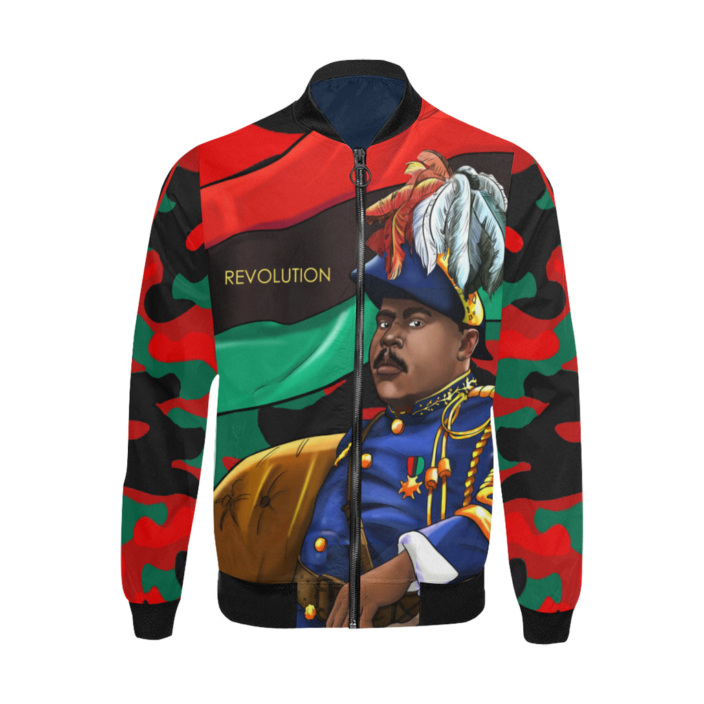 Marcus Garvey Red Camo Jacket for Men - UrbanToons Inc.