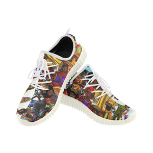 Urbantoons Sneakers Grus Men's Breathable Woven Running Shoes (Model 022) - UrbanToons Inc.