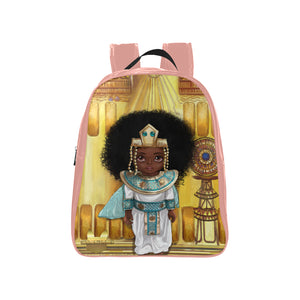 Shakura Princess Egyptian Kids Medium Pink School Backpack (Model 1601)(Medium) - UrbanToons Inc.