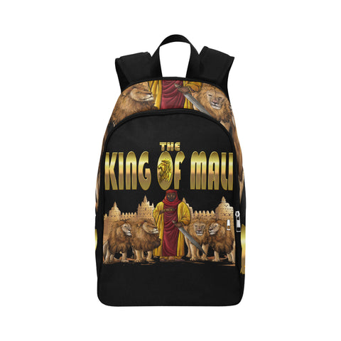 King of Mali Book Bag Fabric Backpack for Adult - UrbanToons Inc.