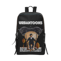 Black Panther Huey P Newton Unisex Slim Backpack (Model 1664) - UrbanToons Inc.