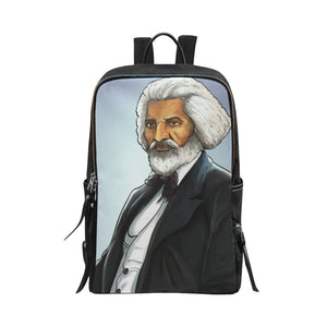 Fredrick Douglass Unisex Slim Backpack (Model 1664) - UrbanToons Inc.
