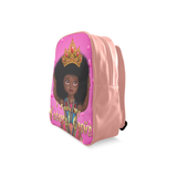 I Love My Natural Crown Kids L School Backpack/Large (Model 1601)