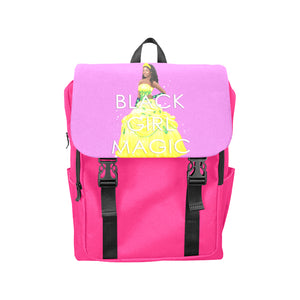 Urbantoons Black Girl Magic Casual Shoulders Backpack (Model 1623) - UrbanToons Inc.