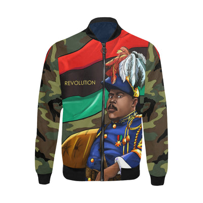 Marcus Garvey Army Bomber Jacket for Men - UrbanToons Inc.