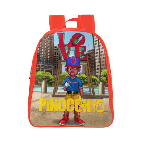 Urbantoons Pinocchio LOVE Book Bag small School Backpack - UrbanToons Inc.