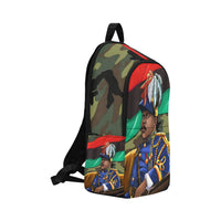 Marcus Garvey Army Green BookBag Fabric Backpack for Adult (Model 1659) - UrbanToons Inc.
