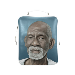 Dr Sebi Vegan Leather Square Backpack (Model 1618) - UrbanToons Inc.