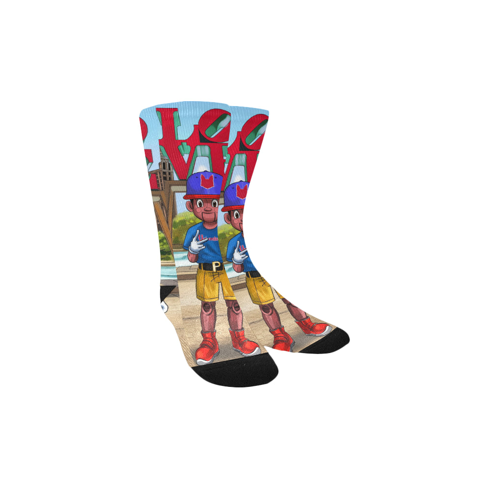 Urbantoons Pinocchio LOVE Socks Kids' Custom Socks - UrbanToons Inc.