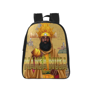 Mansa Musa Kids (Medium) School Backpack (Model 1601)(Medium) - UrbanToons Inc.