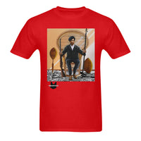 Huey P Newtown Red Sunny Men's T-shirt (USA Size) (Model T02) - UrbanToons Inc.