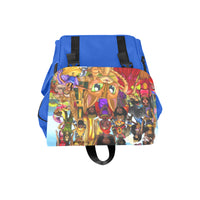 Urbantoons Toon Nation Kids Book Bag Blue Casual Shoulders Backpack (Model 1623) - UrbanToons Inc.