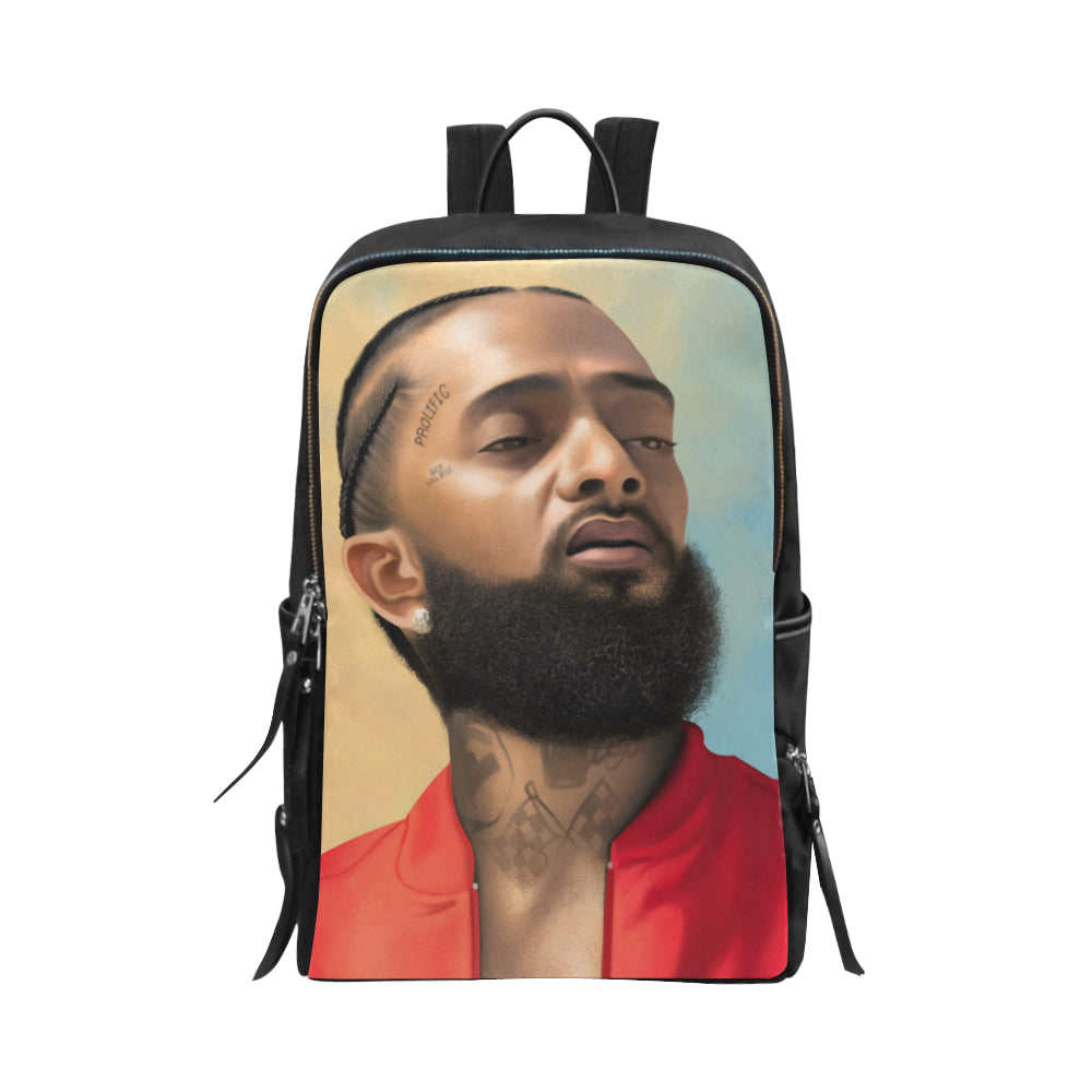 Nipsey Hussle Slim Unisex Slim Backpack (Model 1664) - UrbanToons Inc.
