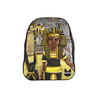 Urbantoons King Tut Medium Black School Backpack (Model 1601)(Medium) - UrbanToons Inc.