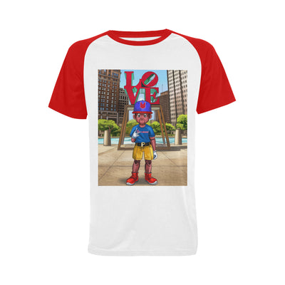Pinocchio Philly Men's Raglan T-shirt Big Size (USA Size) (Model T11) - UrbanToons Inc.