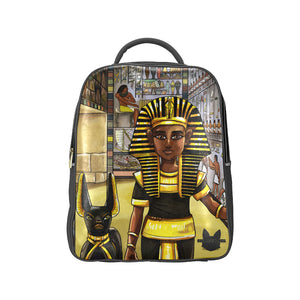 King Tut Vegan Leather Adult Popular Backpack (Model 1622) - UrbanToons Inc.