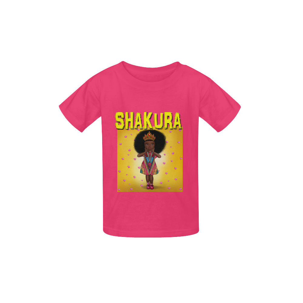 Shakura I love My Black Skin Kid's  Classic T-shirt (Model T22) - UrbanToons Inc.