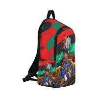 Marcus Garvey Red Army Book Bag Fabric Backpack for Adult (Model 1659) - UrbanToons Inc.