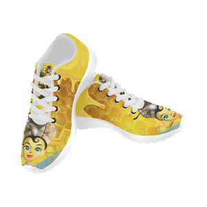 Urbantoons The Queen Bee  White Kid's Running Shoes - UrbanToons Inc.
