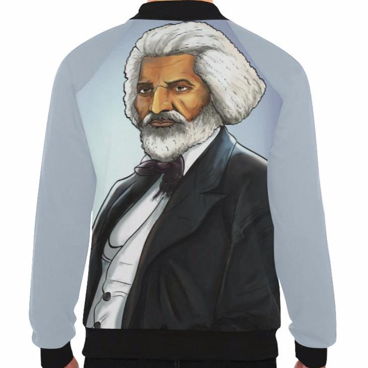 Urbantoons Fredrick Douglass Baseball Jacket Men - UrbanToons Inc.