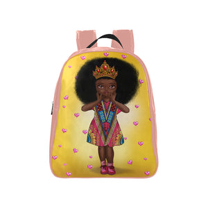Shakura Kids M Pink School Backpack (Model 1601)(Medium) - UrbanToons Inc.