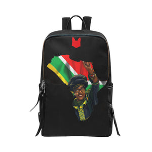 Winnie Mandela Slim Book Bag Unisex Slim Backpack (Model 1664) - UrbanToons Inc.