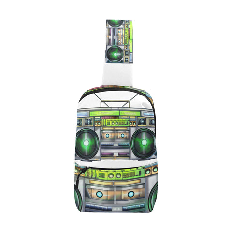 Urbantoons Boom Box Fanny Pack Chest Bag (Model 1678) - UrbanToons Inc.