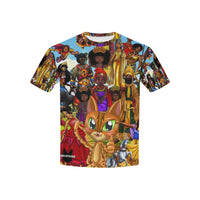 Urbantoons Toon Nation All Over Print T-shirt for Kid (USA Size) (Model T40) - UrbanToons Inc.