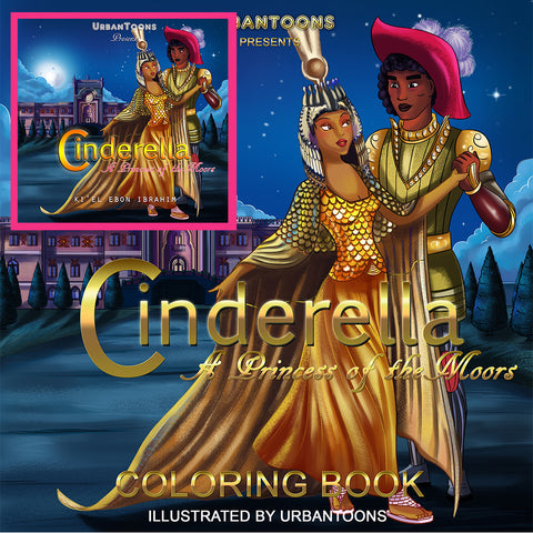 Urbantoons Cinderella Combo Pack (BOOK & COLORING BOOK)